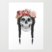Festival skull by Balazs Solti