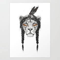 Warrior lion by Balazs Solti